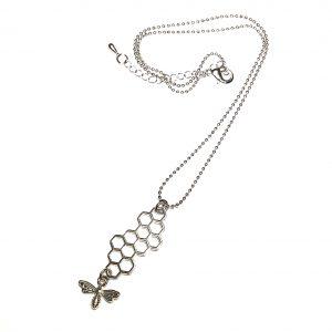 Bie-bikube-smykke-halskjede