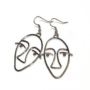 maske-ansikt-øredobber-øreanheng-ørepynt