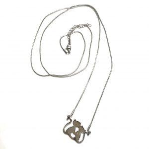 katt-katteelsker-hjerte-smykke-halskjede-rustfritt-stål