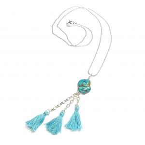 turkis-howlite-smykke-halskjede-dusker