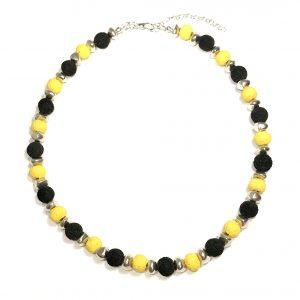 gul-sort-smykke-halskjede