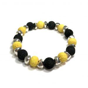 gul-sort-armbånd-lava