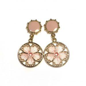 boho-bohem-øreanheng-ørepynt-øredobber-rosa