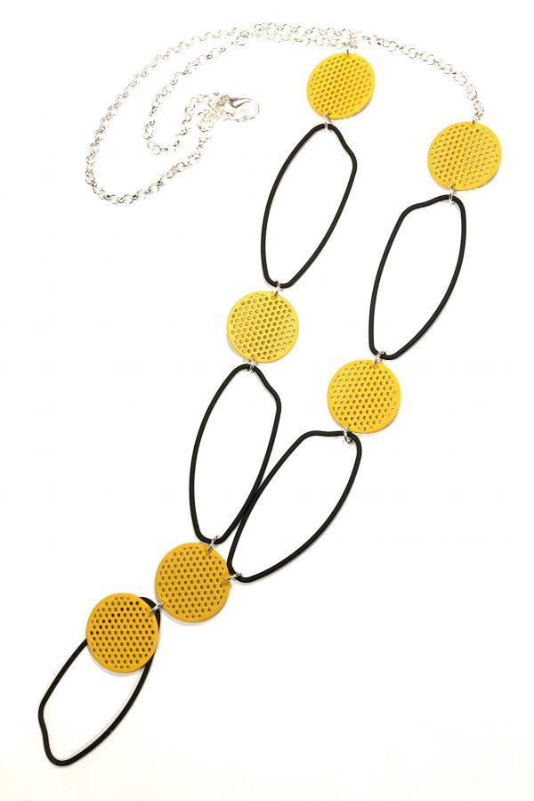 gult-sort-smykke-haskjede