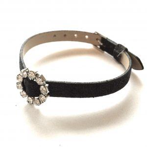 glitter-sort-bling-armbånd