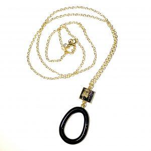 sort-gull-smykke-halskjede