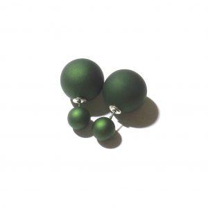 grønn-dobbel-ørepynt-øredobber