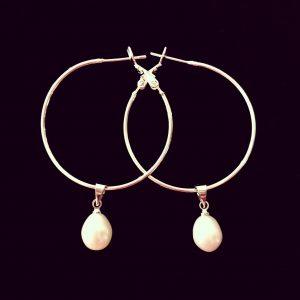 ferskvanns-perle-øreringer