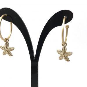 ocean-jewelery-maritim-ørepynt-sjøstjerne-øredobber