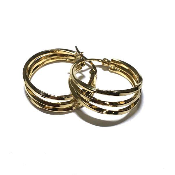 gull-øreringer