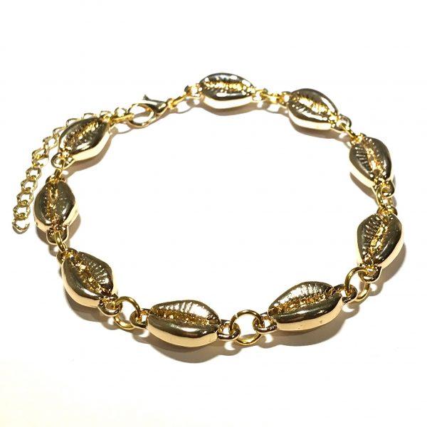 gull-skjell-maritimt-armbånd-ocean-jewellery