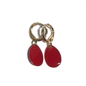 rød-gull-ørepynt-øredobber-øreanheng