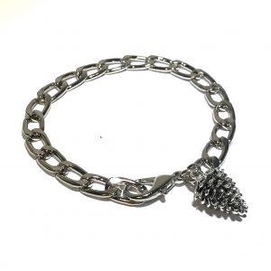 sølv-kongle-armbånd