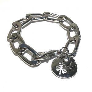 sølv-firkløver-armbånd