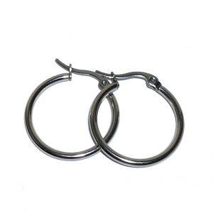 stål-sølv-øreringer
