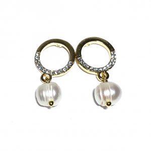 elegante-gull-perle-ørepynt-øreanheng