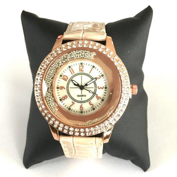 rosegull-klokke-ur