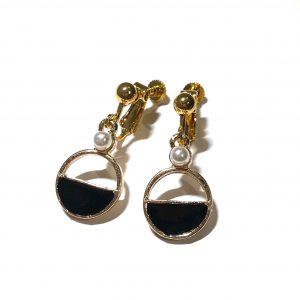 sort-gull-klips-ørepynt-øredobber-øreanheng