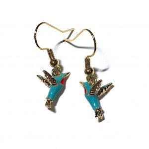 kolibri-gull-ørepynt-øreanheng-øredobber