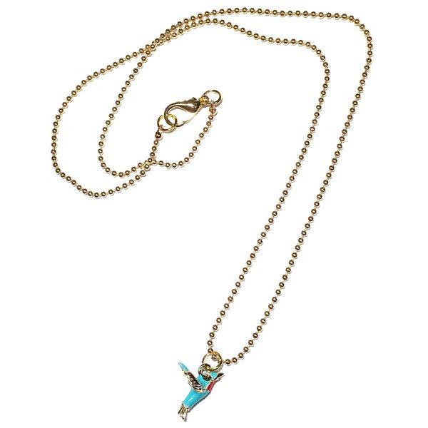 kolibri-gull-smykke-halskjede