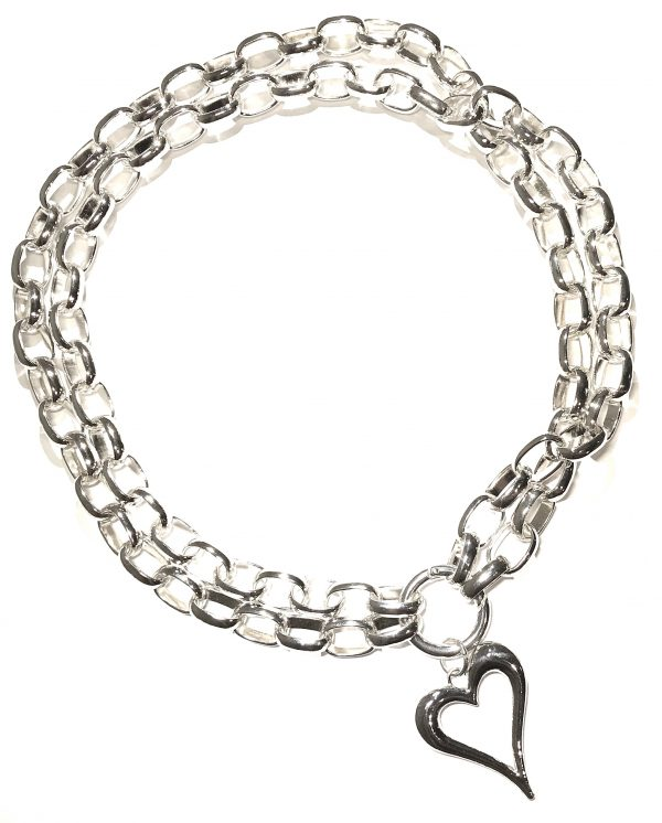 kraftig-hjerte-smykke-halskjede