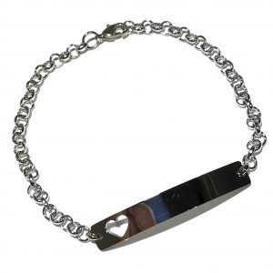 hjerte-plate-sølv-armbånd