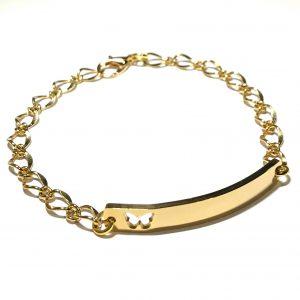 sommerfugl-plate-gull-armbånd