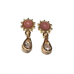rosa-gull-øreanheng-ørepynt