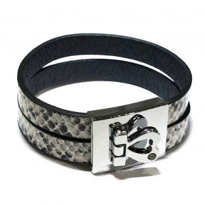 slangeprint-hjerte-armbånd