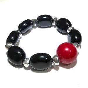 sort-rød-keramikk-armbånd