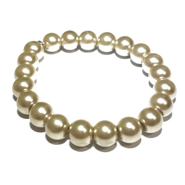 beige-brun-perle-armbånd