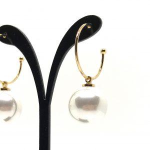 perle-øreringer