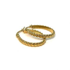 flette-gull-ovale-øreringer