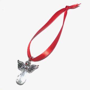 engel-juletrepynt-rød