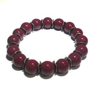 burgunder-vinrød-rød-armbånd