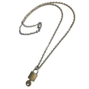 hengelås-smykke-bronse-halskjede