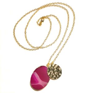 rosa-cerise-agat-smykke