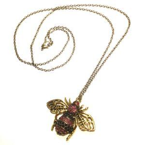 bille-insekt-bronse-smykke-halskjede