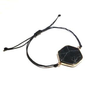 turkis-turqouise-stein-sort-marmor-armbånd