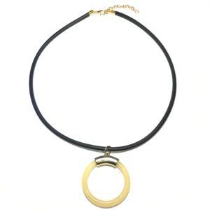 tøff-sort-smykke-halskjede