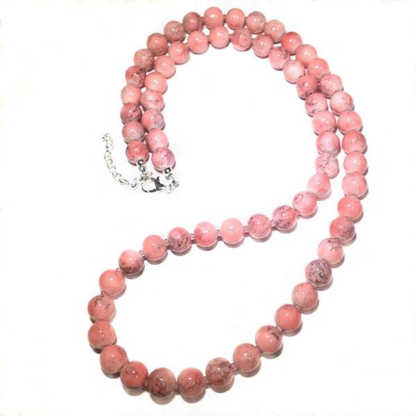 rosa-smykke-perle-halskjede