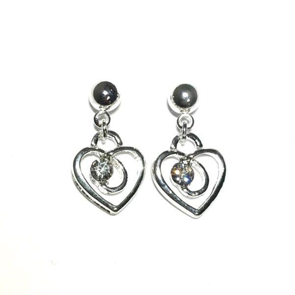 sølv-hjerte-ørepynt-øredobber-øreanheng