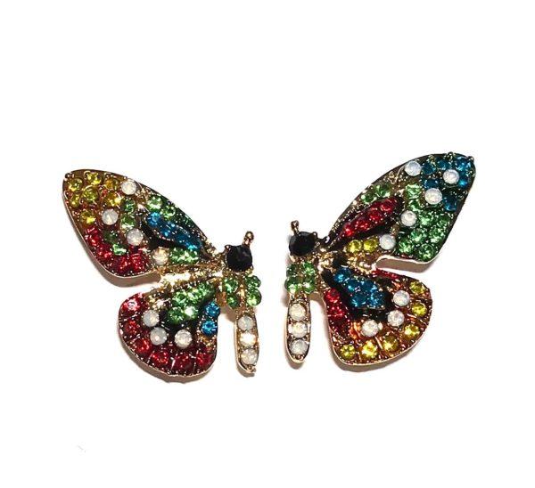 fargerik-sommerfugl-øredobber-ørepynt