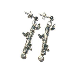 gren-tre-skog-sølv-ørepynt-øredobber