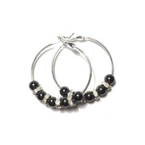 sølv-hematitt-blodstein-øreringer-ørepynt-øredobber