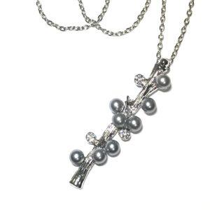 grå-perle-gren-tre-smykke-halskjede