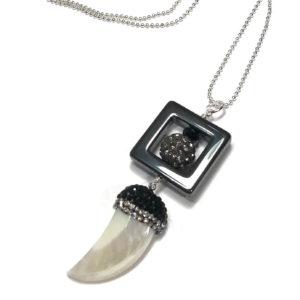 tann-perlemor-skjell-hematitt-blodstein-smykke-halskjede