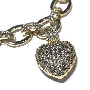 bling-glitter-gull-armbånd