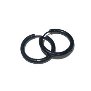 sort-stål-titan-øreringer-ørepynt