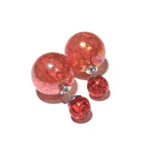 rød-dobbel-ørepynt-stor kule
